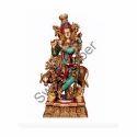 Brass Cow Krishna Statue