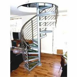 Rounded Steel Stairs