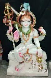 Shiva White Marble Statue