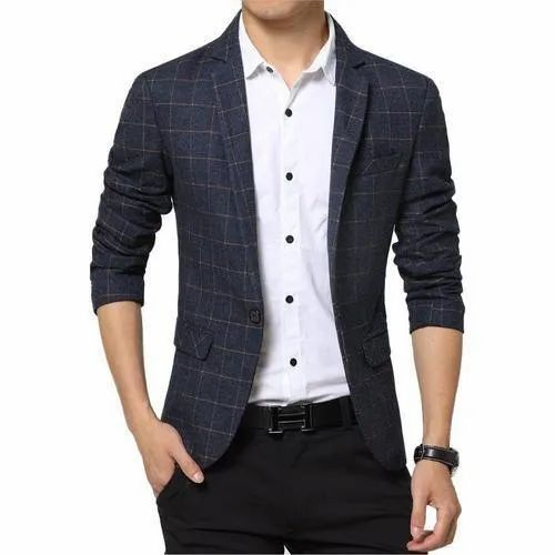 Party Wear Regular Fit Mens Casual Blazer