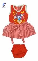 Kids Sleeveless Frock with Pant