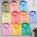 Casual Wear Mens Cotton Chikan Shirt