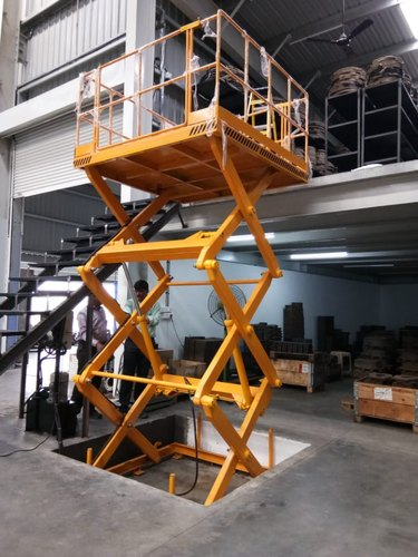 Agua technology Electro Hydraulic Scissor Lift, Operating Height: 2 to 20 feet, Capacity: 100kg To 15 Ton