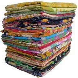 Indian Vintage Bengali Kantha Quilts Heavy Vintage Kantha Quilts Old Sari Bedspread Throw Twin Size