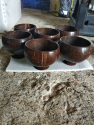 Coconut Shell  Bowl With Base