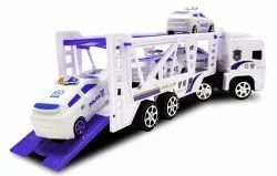 Plastic White The Police Truck Toy 2019 Launch for Your 3 Year Old Toddler