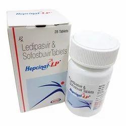 Hepcinat LP Tablet-Natco Ledipasvir 90mg & Sofosbuvir 400mg, 1 X 28, Packaging Type: Bottle