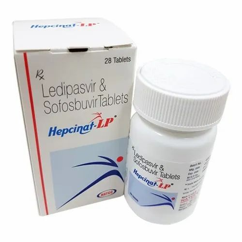 Hepcinat LP Tablet-Natco Ledipasvir 90mg & Sofosbuvir 400mg, 1 X 28, Packaging Type: Bottle