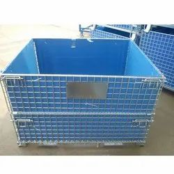 Wire Mesh Container With PP Sheet Box