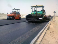 Edge Line Road Construction Work