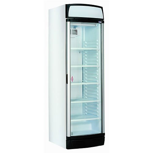 SS And Glass Vertical Bottle Chiller Refrigerator