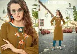 Casual Wear Straight Ladies cotton Designer Kurti, Machine wash, Age Group: 16 To 30