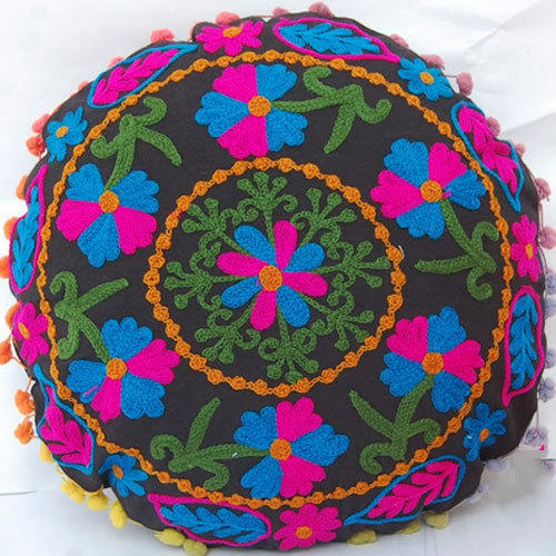Cotton Floral Round Cushion Cover Size 1616 Rs 220 Piece Id