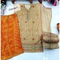 Chanderi Cotton Unstitched Ladies Festive Wear Suit Material