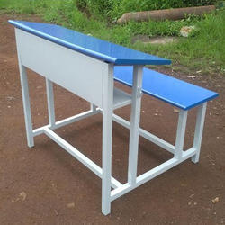 2 Seater Blue School Bench