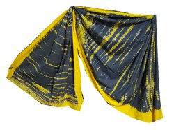 Shibori Tie & Dyed Printed Soft Mulmal Cotton Saree