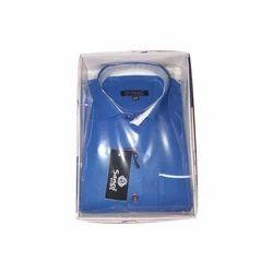 Sanco Cotton Mens Blue Formal Shirt, Size: 42 and 44