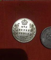 Old 1 Rupee Coin British Emperors