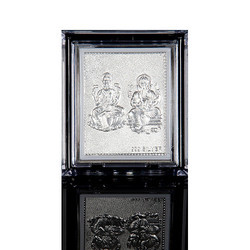 Silver Pan India Ganesh Laxmi Stand Frame, For Gift