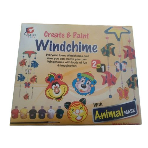 Indoor Game Plastic Create Paint Windchime Game