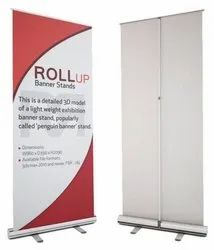 Silver Roll Up Standee