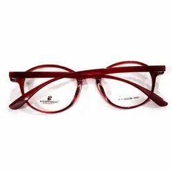 46e4b63b72 Red Transparent Full Rim Round Spectacle Optical Frame