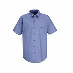 Men's Half-Sleeve Plain Corporate Shirt