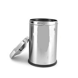 Stainless Steel Plain Swing Dustbin