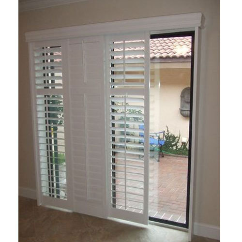 Aluminium Louver Sliding Door Height 6 7 Feet