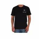 Cotton Plain Round Neck T Shirt, Size: S And M