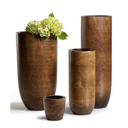 Mango Wood Pots At Rs 4200 Set Wooden Vase Id 15426748012