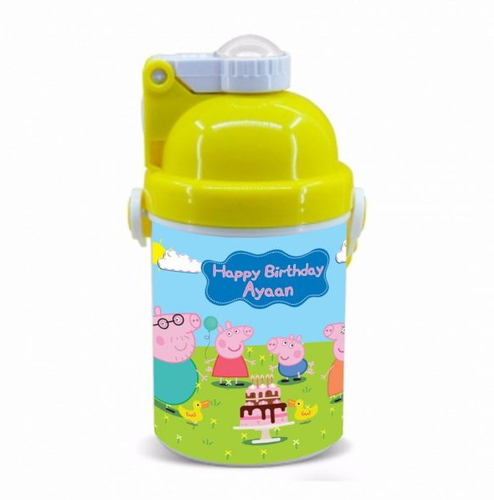 Peppa Pig Happy Birthday Gift Kids Water Bottle Sipper With Name