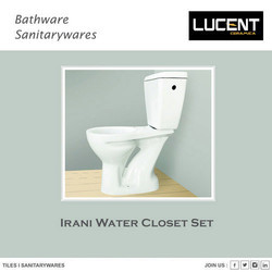 LUCENT White Irani Water Closet Set, IWCS001