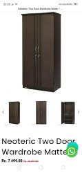 Furniture House Double Door Almirah Wardrobe, 2, Size/Dimension: 6ft*3ft