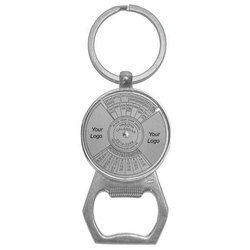 Trendy Perpetual Calendar Keychain with Bottle Opener