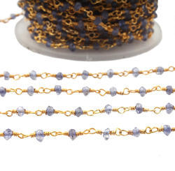 Amethyst Gemstone Rosary Beaded Chains