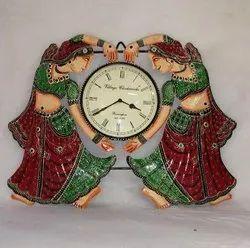 Iron Embossed Lady Clock