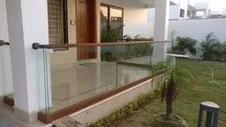 Aluminium Polished Wooden Railing, For Stair And Balcony