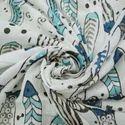 Fish Hand Block Animal Print Cotton Fabric