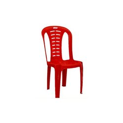 Arris Red Armless Plastic Chair
