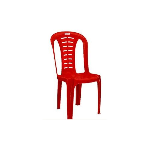 Red Armless Plastic Chair