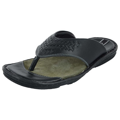 c82789a29a37 Men Black Chamois V Strap Slippers