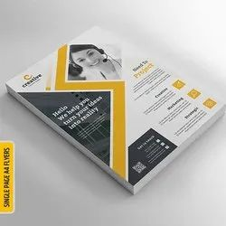 2 Sided Full Colour Printing Paper Single Page Flyer Advertising Brochure