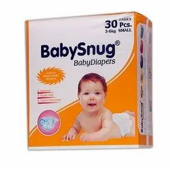 Cotton BabySnug Small Disposable Baby Diapers, Age Group: Newly Born-12 Months, Packaging Size: 30 Piece