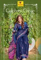Vinamra Corporation Formal Wear Cotton Satin Saree