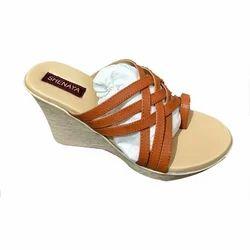 Shenaya Brown and Cream Ladies Formal Shoes, Size: 6-11