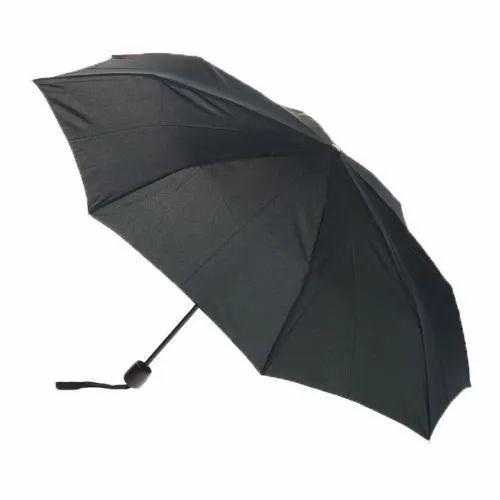 9ae59bb18 Polyester Two Fold Plain Black Umbrella, Rs 100 /piece, Surana Udyog ...