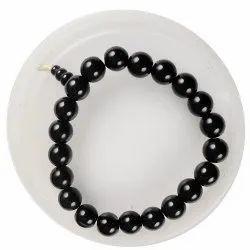 Eshoppee Black Onyx Stone Bracelet With Guru Bead(Black Guru Bead)