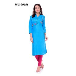 Sky Blue Ladies Kurti
