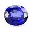 Proaom Solutions Blue Sapphire 12 Ratti Natural Certified Gemstone (neelam Stone)